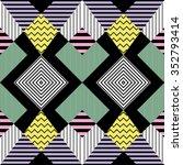 seamless pattern in retro...   Shutterstock .eps vector #352793414