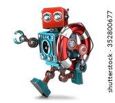 Vintage Robot Run With Lifebuoy....