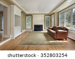 family room in luxury home with ... | Shutterstock . vector #352803254