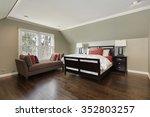 master bedroom in suburban home ...   Shutterstock . vector #352803257