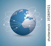 isolated global communication... | Shutterstock .eps vector #352809521