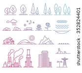 landscape design elements   Shutterstock .eps vector #352824401