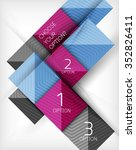 paper style design templates ... | Shutterstock .eps vector #352826411