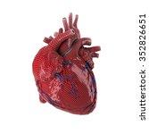 3d rendered human heart... | Shutterstock . vector #352826651