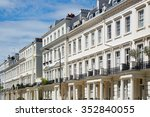 white houses facades in london  ... | Shutterstock . vector #352840055
