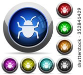 set of round glossy bug buttons....