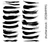 vector brush strokes textured... | Shutterstock .eps vector #352849991