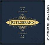 vector calligraphic logo... | Shutterstock .eps vector #352852391