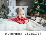 funny little boy on the... | Shutterstock . vector #352861787