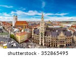 Aerial View On Marienplatz Tow...