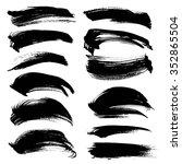 black long abstract handdrawn... | Shutterstock .eps vector #352865504