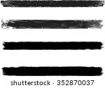 set of grunge brush strokes  | Shutterstock .eps vector #352870037