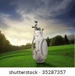 Golf Cart In A Golf Club