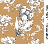 seamless pattern with  black... | Shutterstock .eps vector #352877009