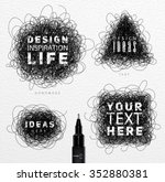 pen drawing tangle elements... | Shutterstock .eps vector #352880381