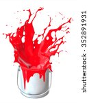 a splash of paint from the jar  ... | Shutterstock . vector #352891931