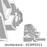 architecture building.... | Shutterstock .eps vector #352893311