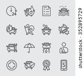 car insurance line icon | Shutterstock .eps vector #352895729