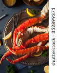 Small photo of Cooked Organic Alaskan King Crab Legs with Butter