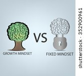 vector  growth mindset vs fixed ... | Shutterstock .eps vector #352900961