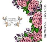 vintage delicate invitation... | Shutterstock . vector #352917851