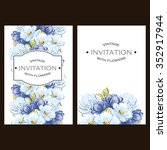 vintage delicate invitation...   Shutterstock .eps vector #352917944