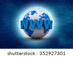 word www is wrapped in front of ... | Shutterstock . vector #352927301