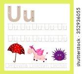 illustrator of u exercise a z... | Shutterstock .eps vector #352936055
