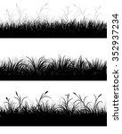 vector illustration of a grass... | Shutterstock .eps vector #352937234