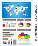isometric infographic template  ... | Shutterstock .eps vector #352938209
