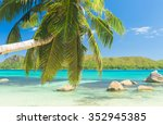 beautiful beach anse boudin... | Shutterstock . vector #352945385