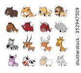 funny animal vector... | Shutterstock .eps vector #352947509