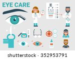 illustration of eye care... | Shutterstock .eps vector #352953791