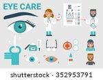 illustration of eye care... | Shutterstock .eps vector #352953791