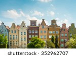 old and narrow houses in street ... | Shutterstock . vector #352962707