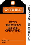 read direction before operating.... | Shutterstock .eps vector #352962887