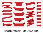 red ribbons banners tags labels.... | Shutterstock .eps vector #352965485