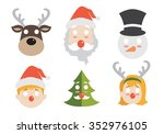 christmas face | Shutterstock .eps vector #352976105