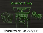 budgeting  home banking user... | Shutterstock . vector #352979441
