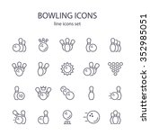 bowling icons. | Shutterstock .eps vector #352985051