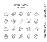 baby icons. | Shutterstock .eps vector #352985057