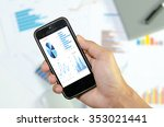 graphs and charts being...   Shutterstock . vector #353021441