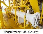 pig luncher in oil and gas... | Shutterstock . vector #353023199