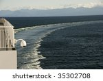 a ship's wake turning from port ... | Shutterstock . vector #35302708