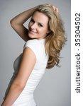 pretty blond woman | Shutterstock . vector #35304502