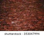 Photo Of Old Grunge Brick Wall...