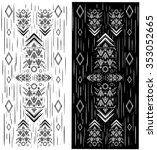 Tribal Ethnic Vector Pattern...