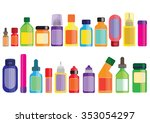 medicine and pharmacy bottles... | Shutterstock .eps vector #353054297