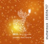 vintage christmas card with...   Shutterstock .eps vector #353056757
