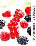 fresh berry fruits | Shutterstock . vector #35306227